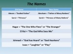 Names and their meaning within the context of Genesis'  Narrative of Abraham's Family
