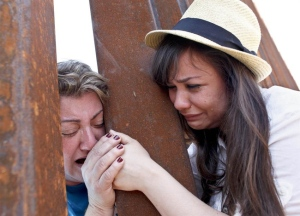 Deported Mother saying Goodbye to Daughter at Mexican Border