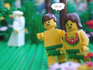 Genesis3:8 Lego Adam And Eve