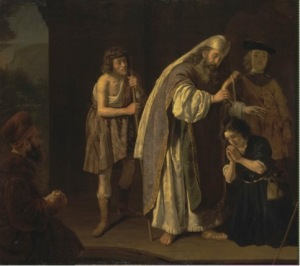 The Anointing of David by Victors Jan, ca 1645