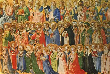 The Forerunners of Christ with Saints and Martyrs (about 1423-24) by Fra Angelico.
