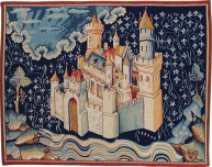 "A Panel showing the New Jerusalem from the ""Apocalypse Tapestry"" (late 14th century) by Nicolas Bataille"